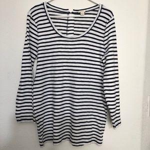 Women's J. Crew long sleeves stripes t-shirt
